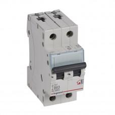 Выключатель автоматический двухполюсный TX3 6000 63А B 6кА | 403992 | Legrand