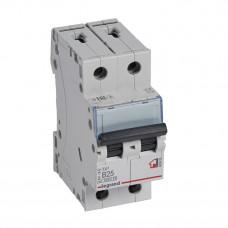 Выключатель автоматический двухполюсный TX3 6000 25А B 6кА | 403988 | Legrand