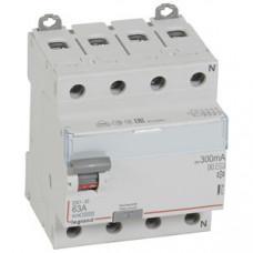 Выключатель дифференциальный (УЗО) DX3-ID 4п 63А 300мА тип AC-S | 411746 | Legrand