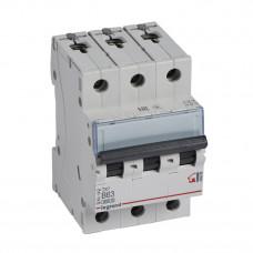 Выключатель автоматический трехполюсный TX3 6000 63А B 6кА | 404006 | Legrand