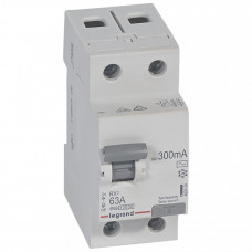 Выключатель дифференциальный (УЗО) RX3 2п 63А 300мА тип AC | 402034 | Legrand