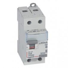 Выключатель дифференциальный (УЗО) DX3-ID 2п 40А 300мА тип A | 411570 | Legrand