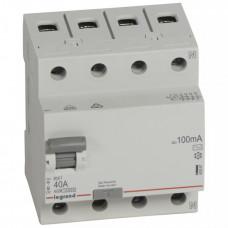 Выключатель дифференциальный (УЗО) RX3 4п 40А 100мА тип AC | 402067 | Legrand