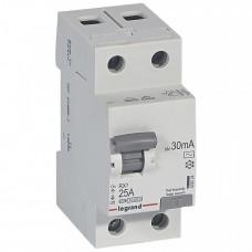 Выключатель дифференциальный (УЗО) RX3 2п 25А 30мА тип AC | 402024 | Legrand