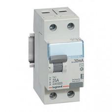 Выключатель дифференциальный (УЗО) TX3 2п 25А 300мА тип AC | 403038 | Legrand