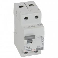 Выключатель дифференциальный (УЗО) RX3 2п 40А 30мА тип A | 402037 | Legrand