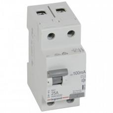 Выключатель дифференциальный (УЗО) RX3 2п 25А 100мА тип AC | 402028 | Legrand