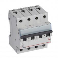 Выключатель автоматический четырехполюсный TX3 6000 63А B 6кА | 404020 | Legrand