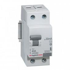 Выключатель дифференциальный (УЗО) TX3 2п 40А 30мА тип AC | 403001 | Legrand
