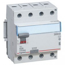 Выключатель дифференциальный (УЗО) TX3 4п 40А 300мА тип AC | 403043 | Legrand