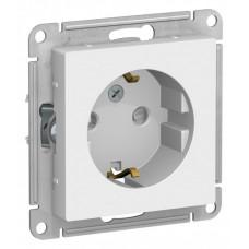 AtlasDesign Белый Розетка с/з со шторками, 16А, механизм | ATN000145 | Schneider Electric