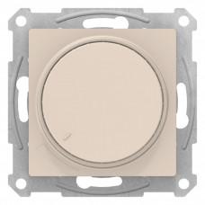 AtlasDesign Бежевый Светорегулятор (диммер) поворотно-нажимной, 630Вт, мех. | ATN000236 | Schneider Electric