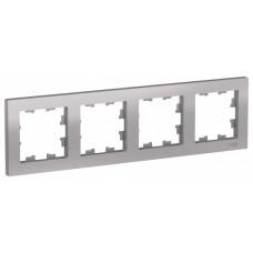 AtlasDesign Алюминий Рамка 4-ая, универсальная | ATN000304 | Schneider Electric
