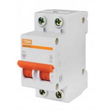 Выключатель автоматический двухполюсный ВА47-63 10А C 4,5кА | SQ0218-0010 | TDM