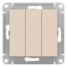 AtlasDesign Бежевый Выключатель 3-клавишный сх.1+1+1, 10АХ, механизм | ATN000231 | Schneider Electric