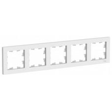 AtlasDesign Белый Рамка 5-ая, универсальная | ATN000105 | Schneider Electric