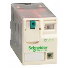 РЕЛЕ 2 CO СВЕТОДИОД 12В ПОСТ ТОКА   RXM2AB2JD   Schneider Electric