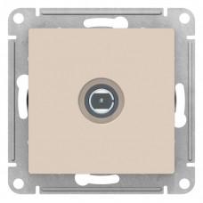 AtlasDesign Бежевый Розетка антенная одиночная TV коннектор, механизм | ATN000293 | Schneider Electric