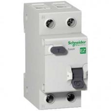 Выключатель автоматический дифференциальный EASY 9 1п+N 10А C 30мА тип AC | EZ9D34610 | Schneider Electric