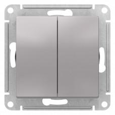 AtlasDesign Алюминий Переключатель 2-клавишный сх.6, 10АХ, механизм | ATN000365 | Schneider Electric