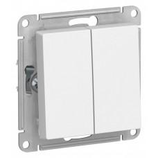 AtlasDesign Белый Переключатель 2-клавишный сх.6, 10АХ, механизм | ATN000165 | Schneider Electric