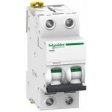 Выключатель автоматический двухполюсный iC60N 2А D 6кА | A9F75202 | Schneider Electric