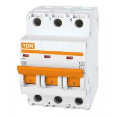 Выключатель автоматический трехполюсный ВА47-63 20А C 4,5кА | SQ0218-0020 | TDM
