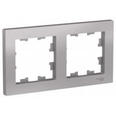 AtlasDesign Алюминий Рамка 2-ая, универсальная | ATN000302 | Schneider Electric