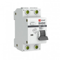 Выключатель автоматический дифференциальный АД-12 1п+N 16А C 30мА тип АС Basic (электронный) | DA12-16-30-bas | EKF