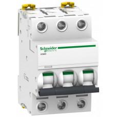 Выключатель автоматический трехполюсный iC60N 10А C 6кА | A9F79310 | Schneider Electric