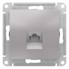 AtlasDesign Алюминий Розетка компьютерная RJ45, механизм | ATN000383 | Schneider Electric