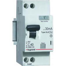 Выключатель автоматический дифференциальный RX3 1п+N 16А C 30мА тип AC | 419399 | legrand