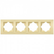 Рамка 4 постовая крем Zena EL-BI   500-010300-228   ABB