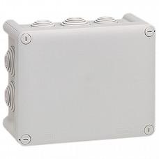 Коробка прямоугольная - 180x140x86 - Программа Plexo - IP 55 - IK 07 - серый - 10 кабельных вводов - 750 °C   092052   Legrand