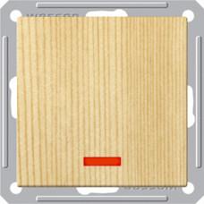 Wessen 59 Сосна Выключатель 1-клавишный кнопочный с подсветкой 16А (сх.1) | VS116-151-7-86 | Schneider Electric