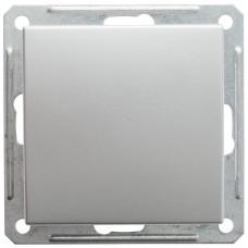 Wessen 59 Матовый хром Выключатель 1-клавишный 2-х полюсной 16А (сх.2) | VS216-152-5-86 | Schneider Electric