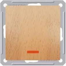 Wessen 59 Бук Выключатель 1-клавишный кнопочный с подсветкой 16А (сх.1) | VS116-151-8-86 | Schneider Electric