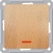 Wessen 59 Бук Выключатель 1-клавишный 2-х полюсной с подсветкой 16А (сх.2) | VS216-150-8-86 | Schneider Electric