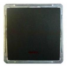 Wessen 59 Черный бархат Выключатель 1-клавишный 2-х полюсной с подсветкой 16А (сх.2) | VS216-150-6-86 | Schneider Electric