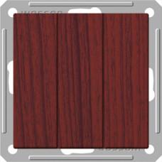 Wessen 59 Морёный дуб Выключатель 3-клавишный 16А (сх.05) | VS0516-351-9-86 | Schneider Electric