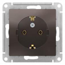 AtlasDesign Мокко Розетка с/з, 16А, механизм | ATN000643 | Schneider Electric