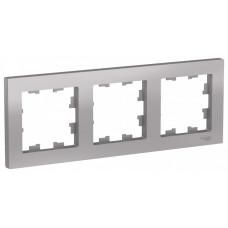 AtlasDesign Алюминий Рамка 3-ая, универсальная | ATN000303 | Schneider Electric