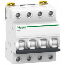Выключатель автоматический четырехполюсный iK60 63А C 6кА | A9K24463 | Schneider Electric