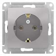 AtlasDesign Алюминий Розетка с/з, 16А, механизм | ATN000343 | Schneider Electric