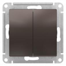 AtlasDesign Мокко Выключатель 2-клавишный сх.5, 10АХ, механизм | ATN000651 | Schneider Electric