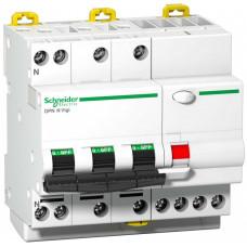 Выключатель автоматический дифференциальный DPN N VIGI 3п+N 25А C 30мА тип Asi | A9D33725 | Schneider Electric