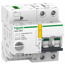 Выключатель автоматический двухполюсный REFLEX iC60N Ti24 63А B 10кА | A9C61263 | Schneider Electric
