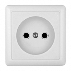 ХИТ О/У без изол. пласт. Белый Розетка б/з без шторок, 16А, 250В | RA10-131-B | Schneider Electric