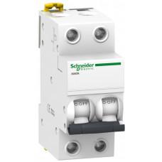 Выключатель автоматический двухполюсный iK60 1А C 6кА | A9K24201 | Schneider Electric