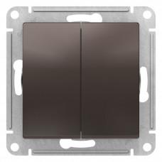 AtlasDesign Мокко Переключатель 2-клавишный сх.6, 10АХ, механизм | ATN000665 | Schneider Electric